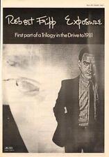 Robert Fripp Exposure King Crimson UK LP advert 1979