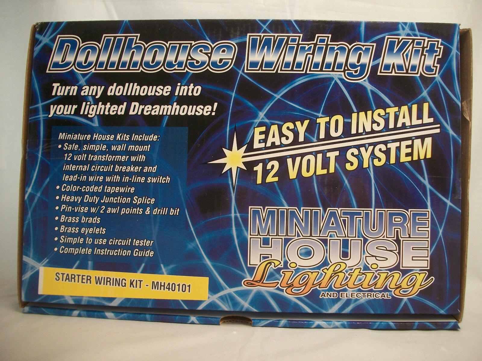 Starter Kit Cablaggio 10 Watt Trasformatore MH40101 Casa Delle Bambole Elettrico