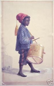 Vance: Original Signed Watercolor on Paper, 1879