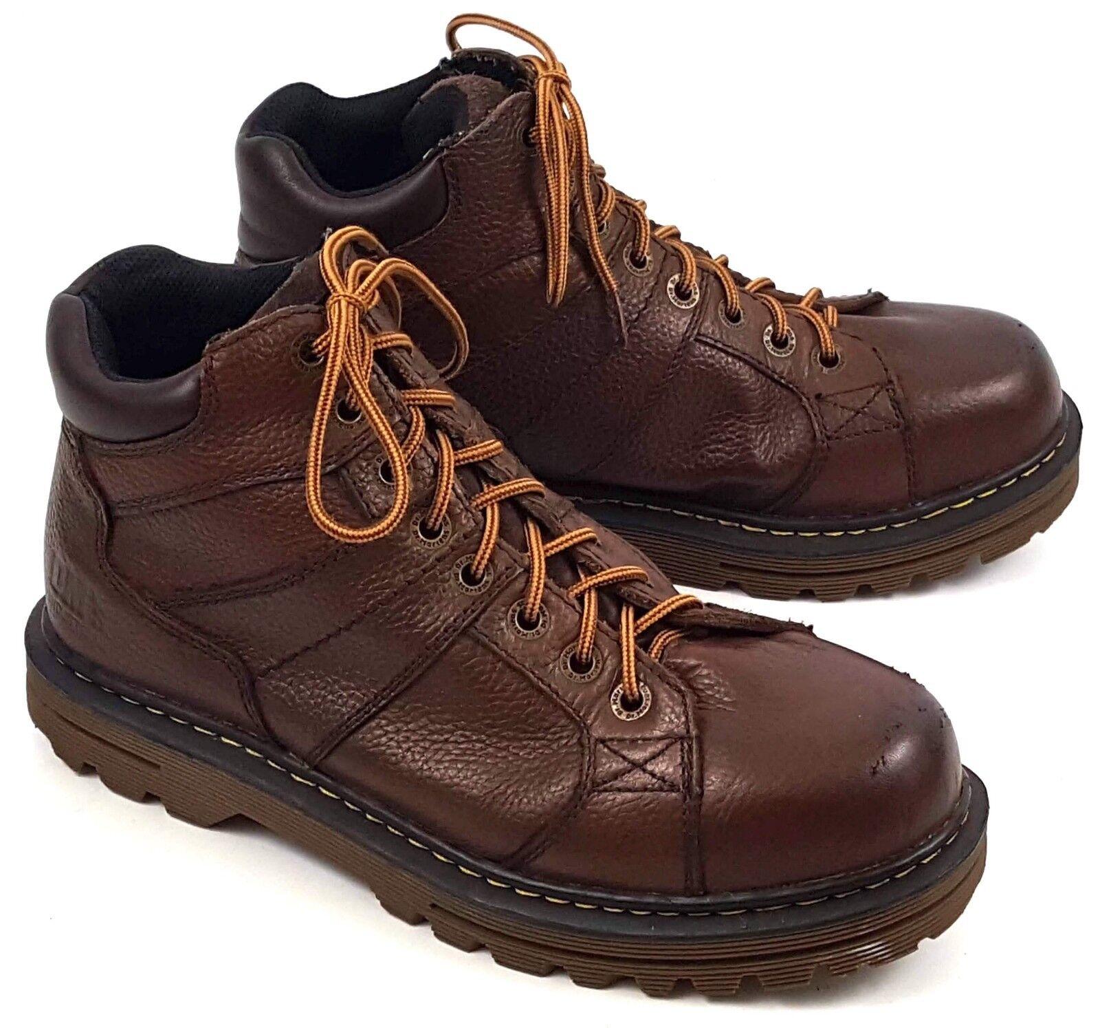 Dr. Martens Hombre Puntera De Acero Zapatos Seguridad Antideslizante Marrón
