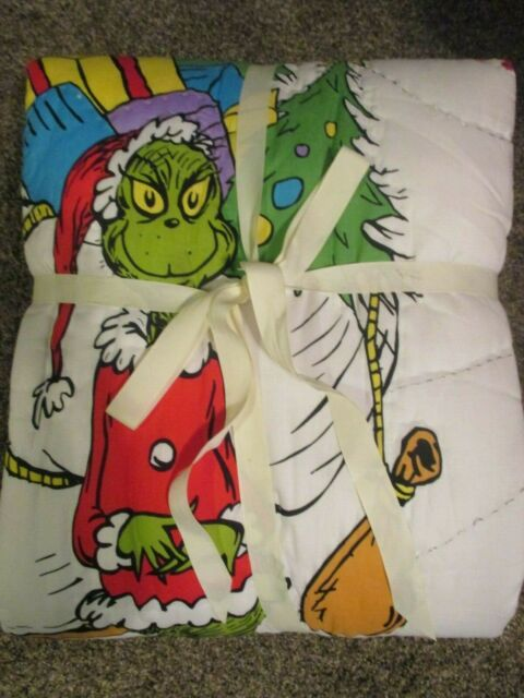 New Pottery Barn Teen Grinch Quilt Twin Ebay