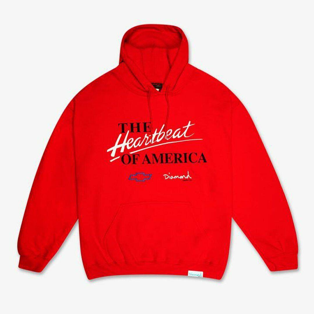 Diamond Supply Co Heartbeat Hoodie Red