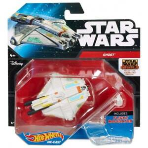 NEW-Hot-Wheels-Disney-Star-Wars-Starship-Rebel-Ghost-With-Flight-Navigator-Stand