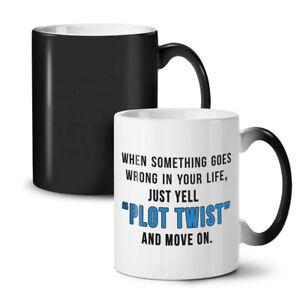 Life Plot Twist NEW Colour Changing Tea Coffee Mug 11 oz   Wellcoda
