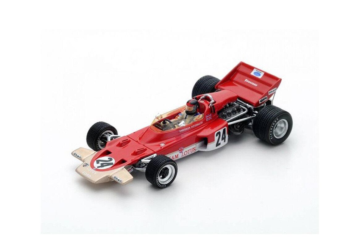 LOTUS 72 C (EMERSON FITTIPALDI-Winner USA GP 1970) Auto Modello in RESINA S5345