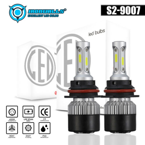 9007 Hi//Lo Dual Beam HB5 LED Headlight BulB 6000K 1320W 198000LM Conversion Kit