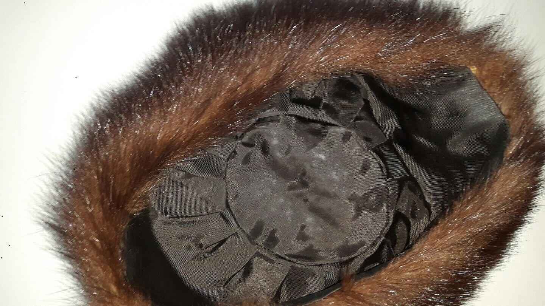 Echt Pelz Hut Nerz Mütze Kosakenpelzmütze dunkelbraun weiss 54 | | | Neues Produkt  | Räumungsverkauf  | Erste Gruppe von Kunden  c938ee