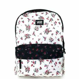 Brand New Womens Vans Realm Classic Backpack Beauty Floral Patchwork
