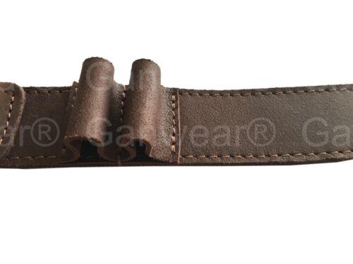Marron CUIR VÉRITABLE Plain Sling fusil fusil pistolet à air Sangle Chasse Tir