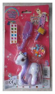 Il-mio-amico-pony-piccolo-bianco-floccato-accessori-tipo-my-little-pony-vintage