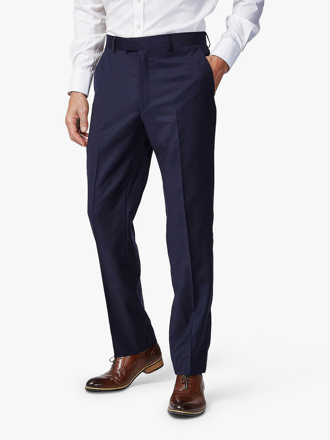 Chester by Chester Barrie Birdseye Weave Suit Trousers, Midnight bluee Size 40R