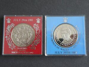 Médailles Commémoratives - 2x 1981 Charles & Diana Mariage Royal (os01)-afficher Le Titre D'origine