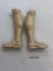 Piedi-legno-for-figure-uomo-scarpa-wood-Feet-restauto-pastori-4-5-cm-suola