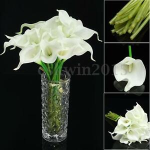 20 heads wedding flower latex real touch silk calla lily flower image is loading 20 heads wedding flower latex real touch silk mightylinksfo