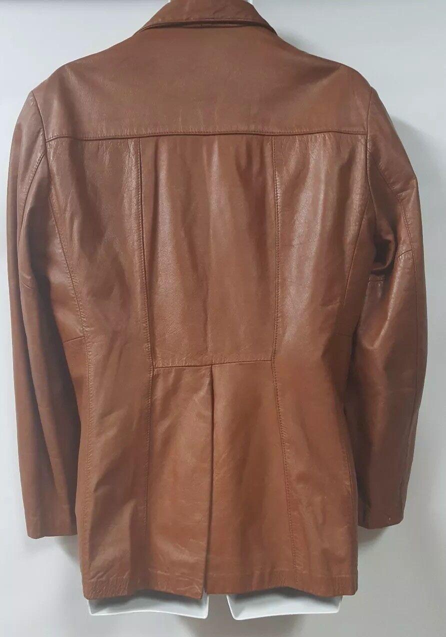 SILTON  Brown Leather 70s  Blazer Sport Coat Siz… - image 4
