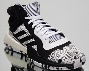 adidas Marquee Boost Mens Black White Basketball Sneakers Shoes ...