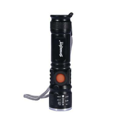 Zoomable 8000Lm  X-XML T6 LED Flashlight USB Rechargeable Pocket Torch Lamp XI