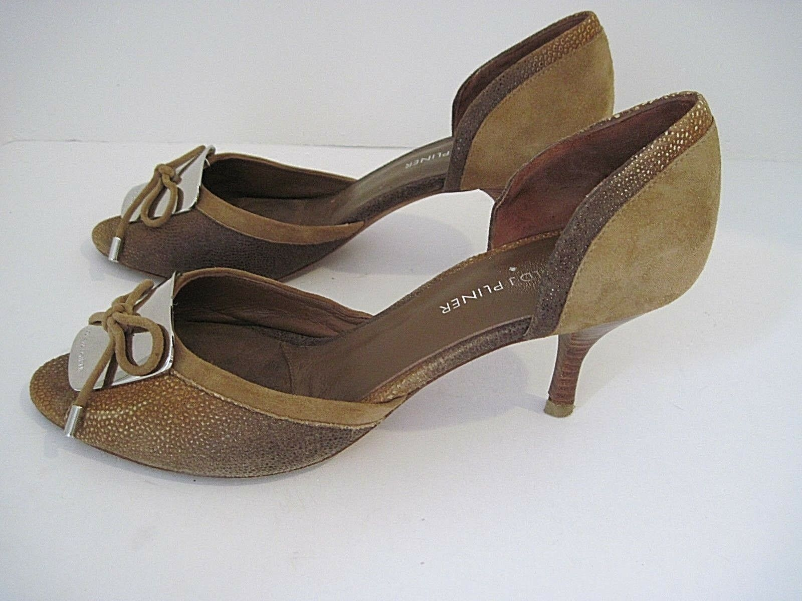 Donald J Pliner Frida d'Orsay Size Pump, Brown Pelle And Suede Size d'Orsay 7 1/2M ad8df4