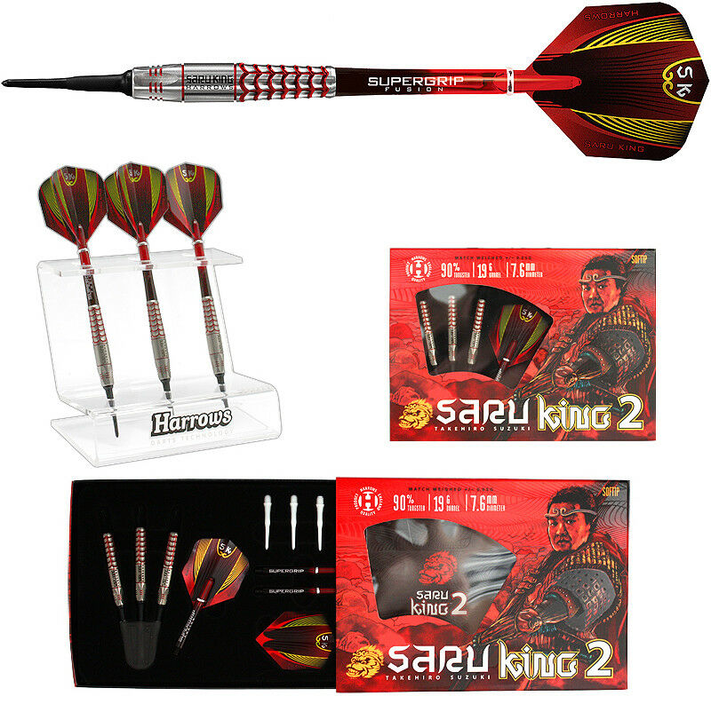 Darts HARROWS Saru King 2 Takehiro Suzuki Softdarts - Dart Set