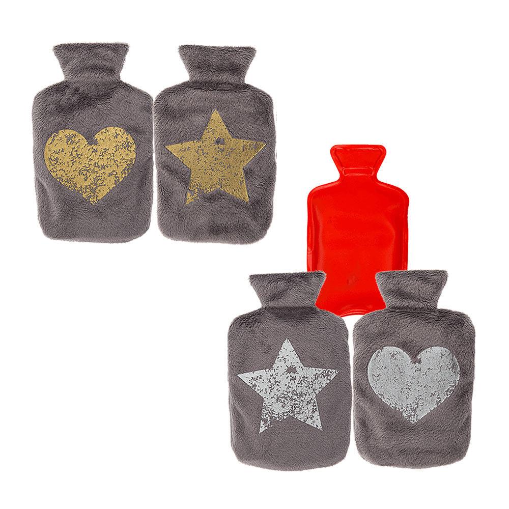 Compresse avec Polaire enrobage étoile ou ou ou cœur design Poches Chauffe-Bouillotte 0ab8e2