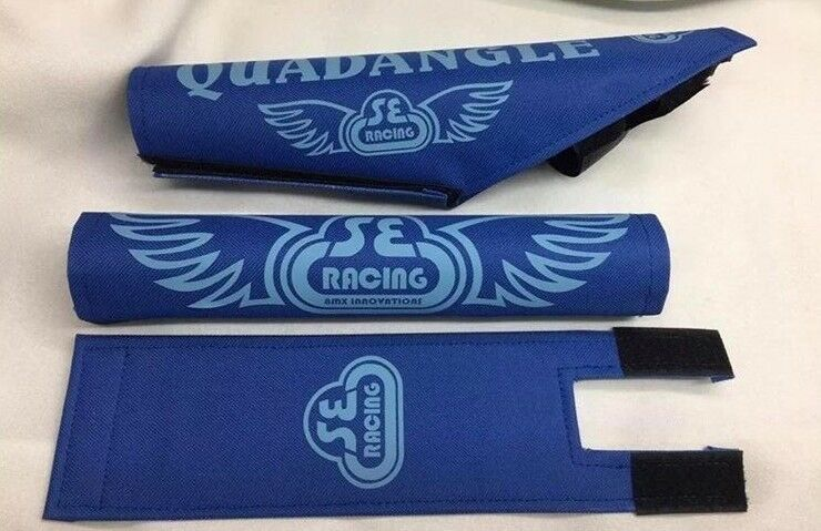 Quadangle Pad Set frame handlebars bar Stem  bmx Re Made blueee babyblueee  first-class quality