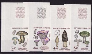 timbre-France-non-dentelee-serie-4-champignons-1987-num-2488-2491-cdfg