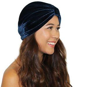 7577a4ad003 Image is loading Velvet-Great-Gatsby-Turban-Headband-Headwrap-Ear-Warmer-