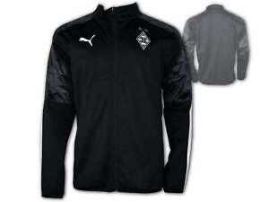 Puma-borussia-monchengladbach-sideline-chaqueta-negro-BMG-Gladbach-fan-top-deportivo