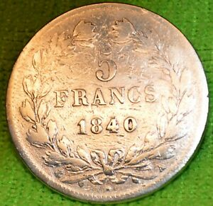 CPX-537-FRANCE-5-FRS-ARGENT-1840-A-LOUIS-PHILIPPE-I-CV-280-A-680