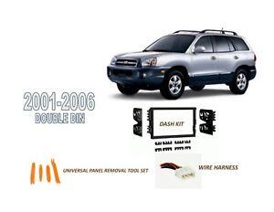 fits 2001 2006 hyundai santa fe car stereo double din. Black Bedroom Furniture Sets. Home Design Ideas