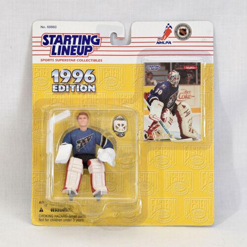 "1996 Kenner Starting Lineup Hockey Figure 4/"" Jim Carey #30 Capitols NEW"
