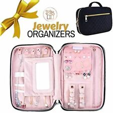 Travel Jewelry Organizer Case Portable Velvet Storage Carrying Bag With Mirror