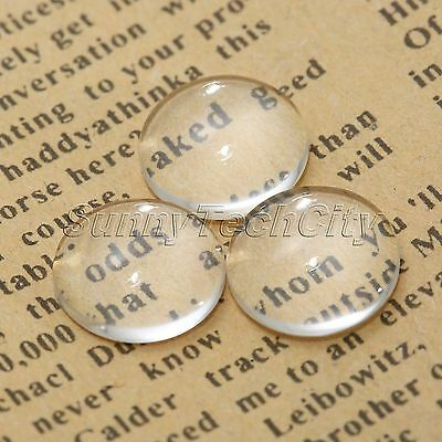 Transparent Clear Round Glass Dome Flatback Cabochon Scrapbooking 6-50mm Wholesa