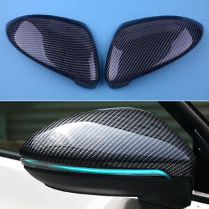 2Stk-L-amp-R-Carbon-Aussenspiegel-Abdeckung-Spiegelkappen-Fuer-VW-Golf-7-MK7-2014-18