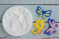 Stampo in silicone, grandi Butterfly, farfalle, la sicurezza degli alimenti, ellam Sugarcraft M028