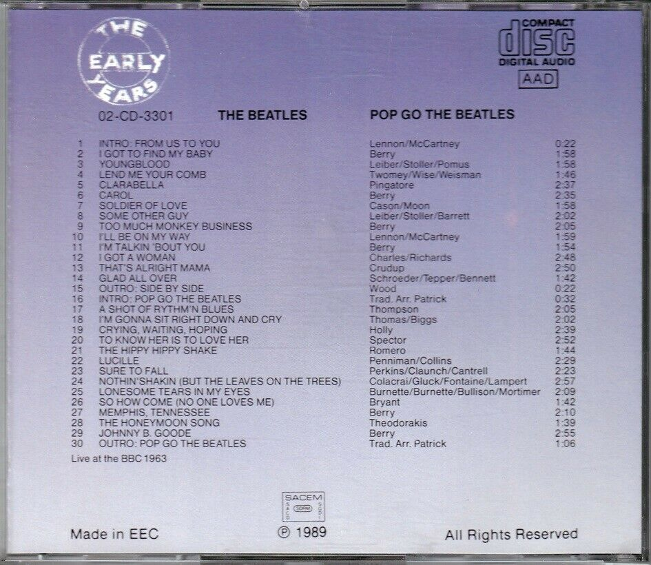 Beatles: Pop Go The Beatles, pop