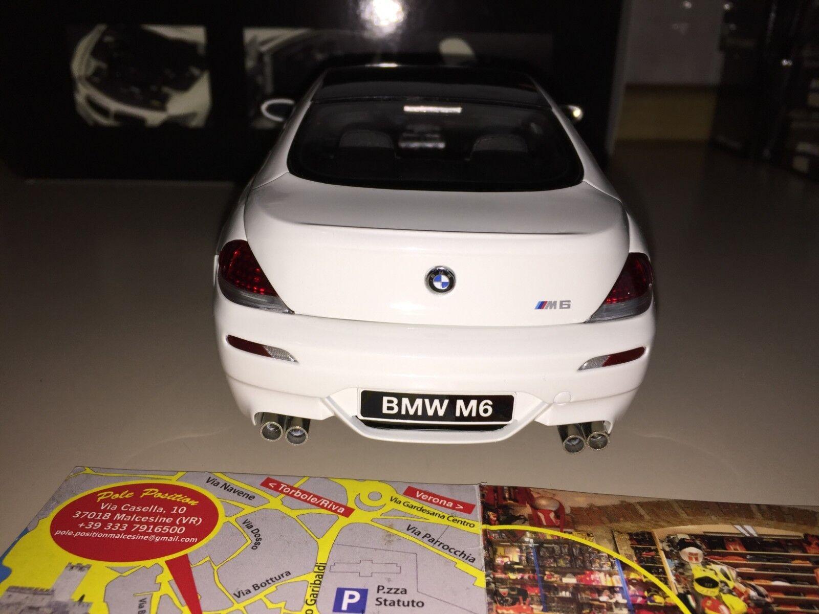 KYOSHO 1 18 BMW M6 COUPE VITT NY RARE FRI SPRIDNING världWIDE