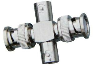 Bnc Adaptador 2 X Macho a Hembra Conectores 2 X rf/Bnc Coaxial, Adaptador 2 X