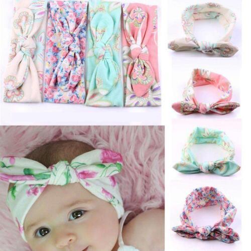 4 PCS Kids Girls Baby Headband Toddler Bow Flower Hair Band  Headwear MT