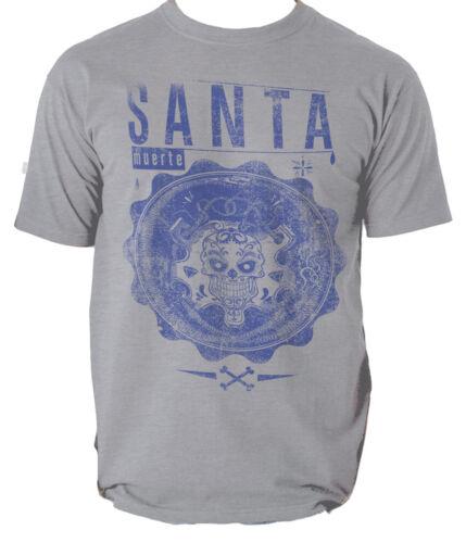 Santa Muerte T Shirt Mort Crâne Biker Hommes T-shirt Tee S-3XL