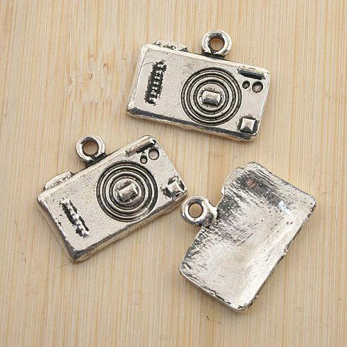 10pcs antiqued silver camera design pendant charm G1451