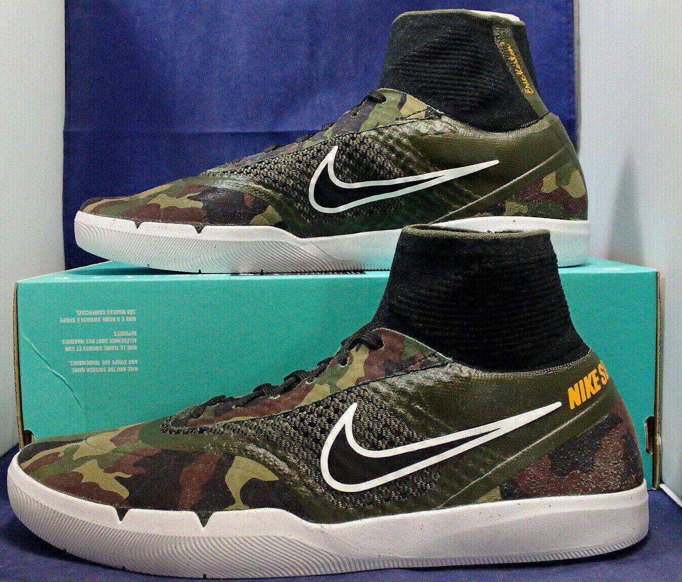 Nike SB Hyperfeel Eric Koston 3 Camo Cargo Khaki SZ 10.5 ( 819673-381 )