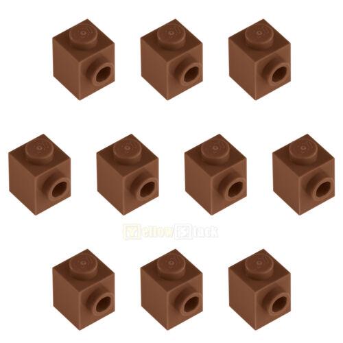 10x LEGO® 87087 1x1 Konverterstein Noppe seitlich braun reddish brown NEU