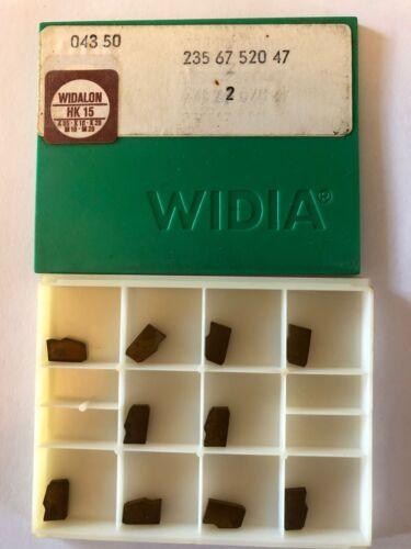 2 WIDIA 235 67 520 47 PARTING INSERTS X 10