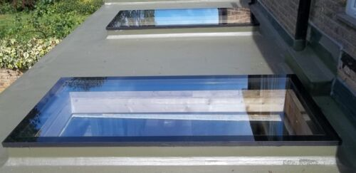 300mm by 300mm Flat Roof Skylights Rooflights for Flat Roofs Flat Roof Rights