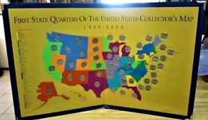 US 50 State Quarters Collectors Map Quarters Holder 16 x 26 GIFT