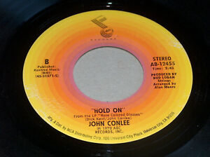 """45 RPM John Conlee """"Backside Of Thirty"""" """"Hold On"""" 1978 ABC MCA Record 12455 EX"""