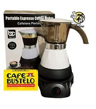 Electric Cuban Coffee Espresso  Maker 1 to 3Cups (1pack Bustelo 10 oz FREE)