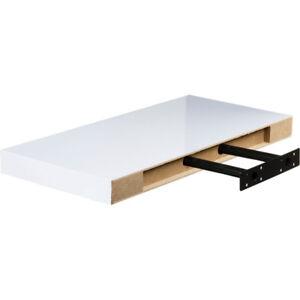 Mensole Bianco Lucido.Dettagli Su Mensola A Parete A Scomparsa Lunghezza 50 Cm Color Bianco Lucido