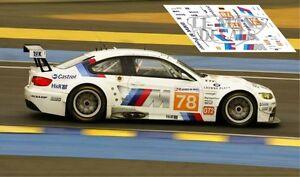 Calcas Bmw M3 Gt2 Le Mans 2010 78 1:32 1:43 1:24 1:18 Slot Decals Riche En Splendeur PoéTique Et Picturale